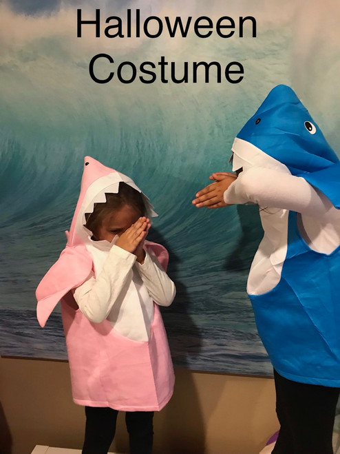 Pink and Blue Shark Costumes