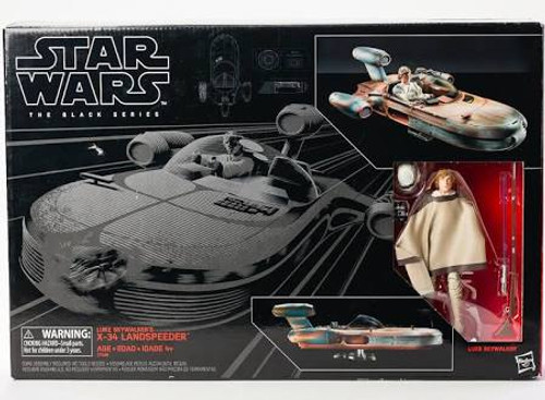 Star Wars Black Series 02 Luke Skywalker's X34 Landspeeder comes with Luke.
