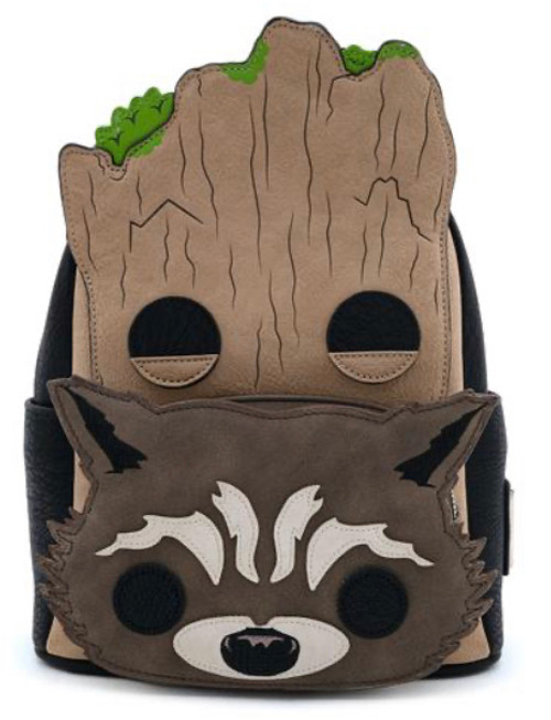 Marvel Groot and Rocket Loungefly Mini Backpack