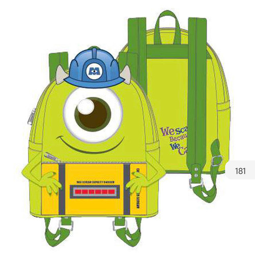 Mike from Monsters Inc. Mini Loungefly Backpack