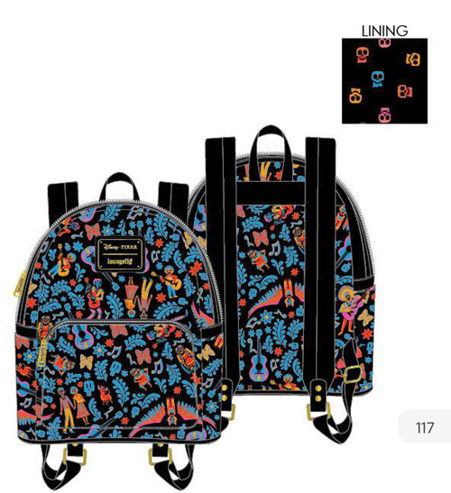 LF DISNEY COCO AOP DIA DE LOS MUERTOS MINI BACKPACK