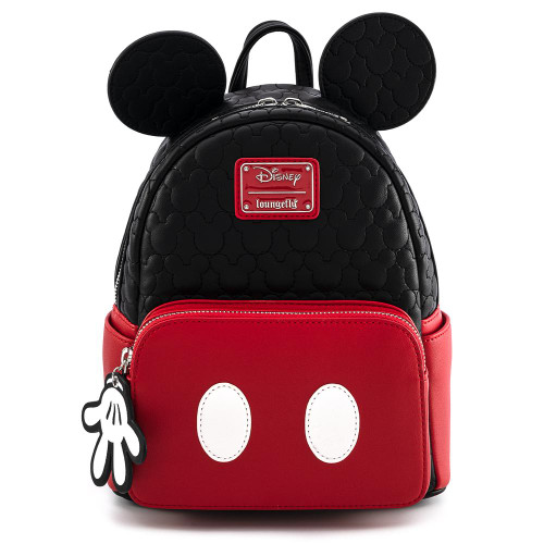 LOUNGEFLY X DISNEY MICKEY MOUSE QUILTED COSPLAY MINI BACKPACK FRONT
