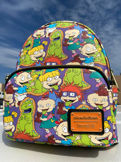 LOUNGEFLY RUGRATS CHARACTERS MINI BACKPACK FRONT