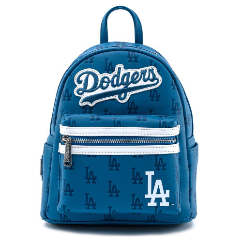 LF MLB DODGERS BLUE AOP MINI BACKPACK  FRONT