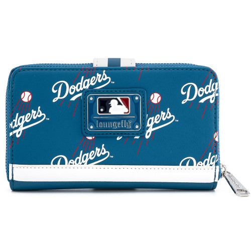 LF MLB DODGERS BLUE LOGO AOP FLAP WALLET FRONT