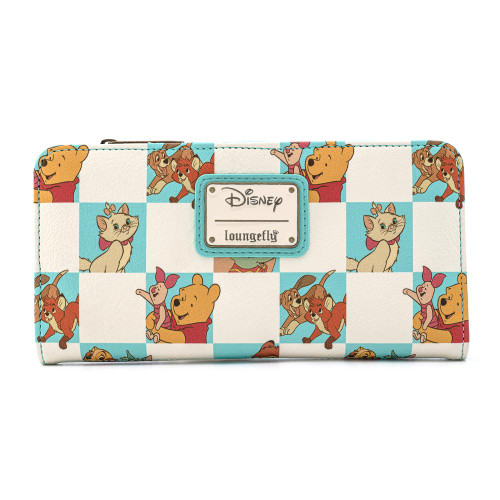 LF DISNEY MULTI CHARACTER MINT CHECKER FLAP WALLET BACK