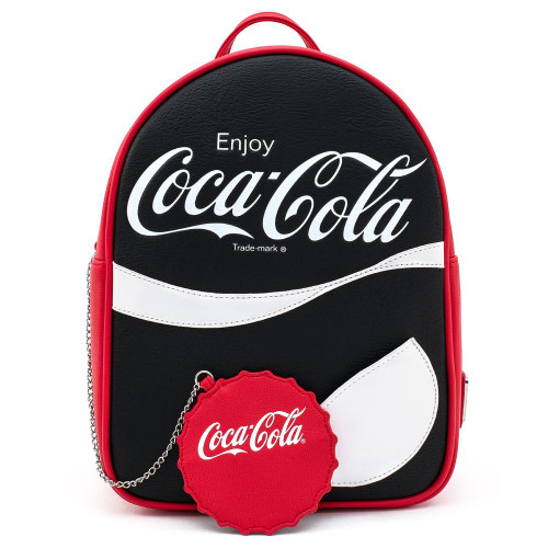 Coca Cola B/W Logo w/ Coin Purse Mini Backpack