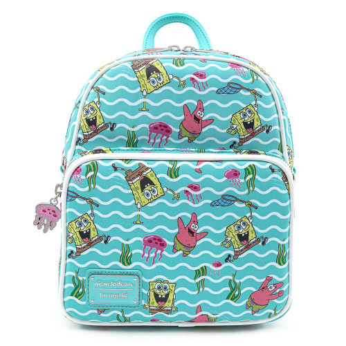 Nick Sponge Bob Jelly Fishing Mini Convertible Backpack