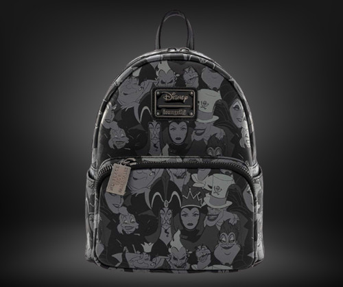 LF Disney Villians Debossed AOP Mini Backpack