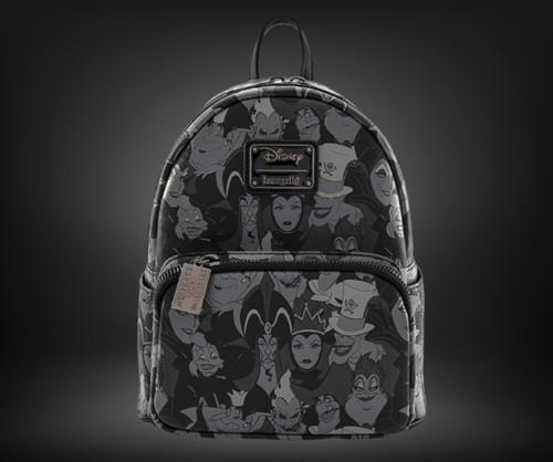 LF Disney Villians Debossed AOP Mini Backpack