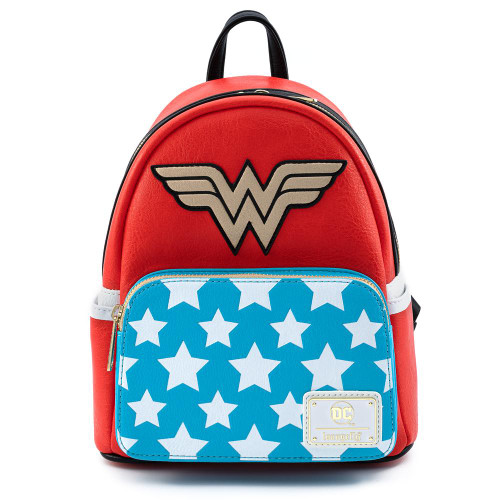 LF DC COMICS VINTAGE WONDER WOMAN COSPLAY MINI BACKPACK FRONT