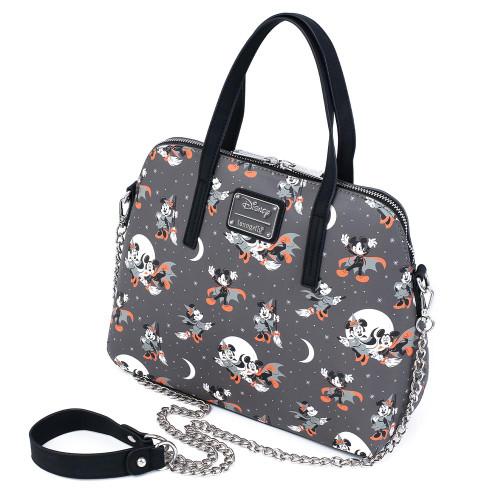 LF Disney Mickey Minnie Halloween Vamp Witch AOP Crossbody Bag