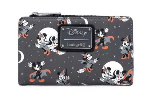 LF Disney Mickey Minnie Halloween Vamp Witch AOP Flap Wallet