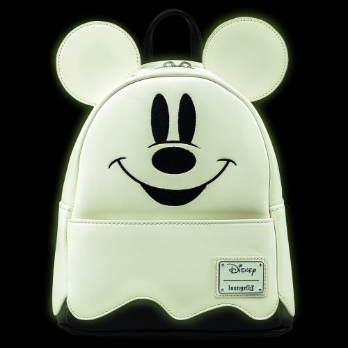 LF Disney Mickey Ghost Mini Backpack (Glows In The Dark) Front Glow