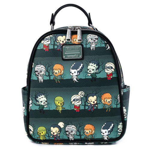 LF Universal Monsters Chibi AOP Mini Backpack Front