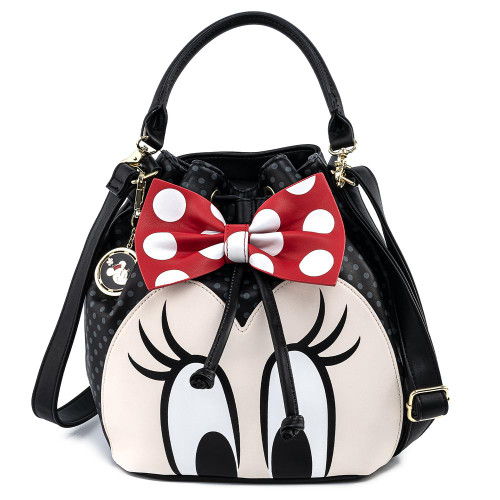 LF DISNEY MINNIE MOUSE BOW BUCKET BAG FRONT