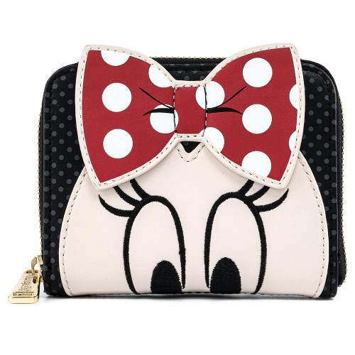 LF DISNEY MINNIE MOUSE BOW ZIP AROUND WALLET FRONT