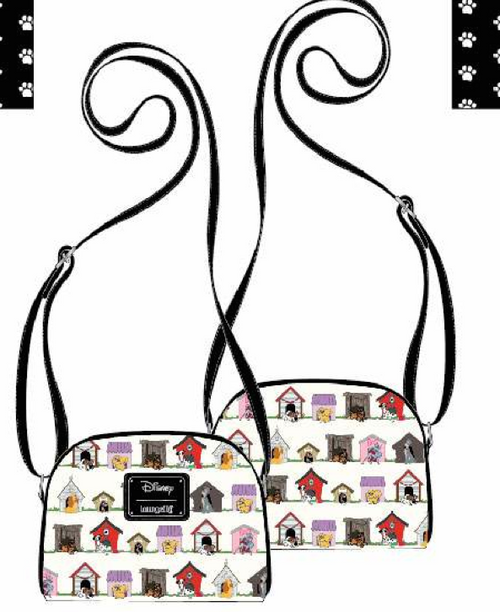 LF DISNEY DOG HOUSES AOP CROSSBODY BAG