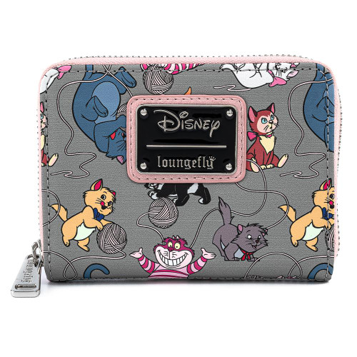 LF DISNEY CATS AOP ZIP AROUND WALLET BACK