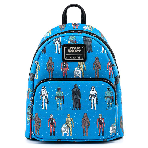 LF STAR WARS ACTION FIGURES AOP MINI BACKPACK FRONT