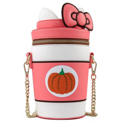 LF HELLO KITTY PUMPKIN SPICE KITTY CUP CROSSBODY BAG FRONT