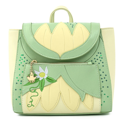 DISNEY TIANA COSPLAY MINI BACKPACK FRONT