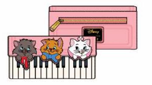 ARISTOCATS PIANO KITTIES TRIFOLD WALLET
