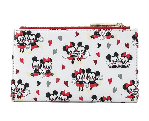 LF DISNEY MICKEY AND MINNIE MOUSE LOVE AOP WALLET BACK