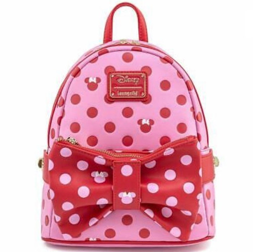 LF DISNEY MINNIE MOUSE PINK BOW 2 IN 1 FANNY/MINI BACKPACK