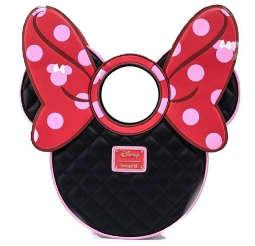 LF DISNEY MINNIE MOUSE QUILTED BOW HEAD CROSSBODY