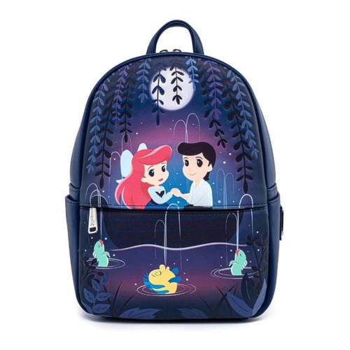 LF DISNEY THE LITTLE MERMAID GONDOLA SCENE BACKPACK FRONT