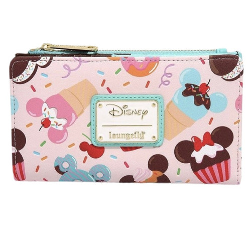 LF DISNEY MICKEY AND MINNIE SWEETS FLAP WALLET