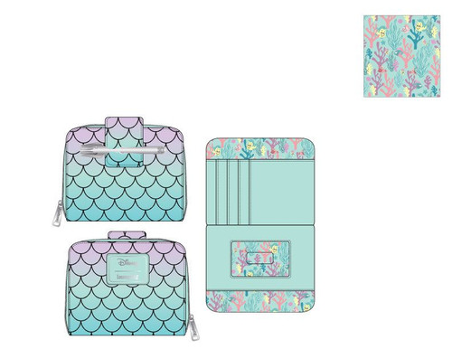 LF DISNEY LITTLE MERMAID SCALES ZIPAROUND WALLET