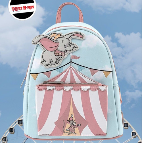 LF DISNEY DUMBO FLYING CIRCUS TENT MINI BACPACK (WDBK1475) FUN PIC