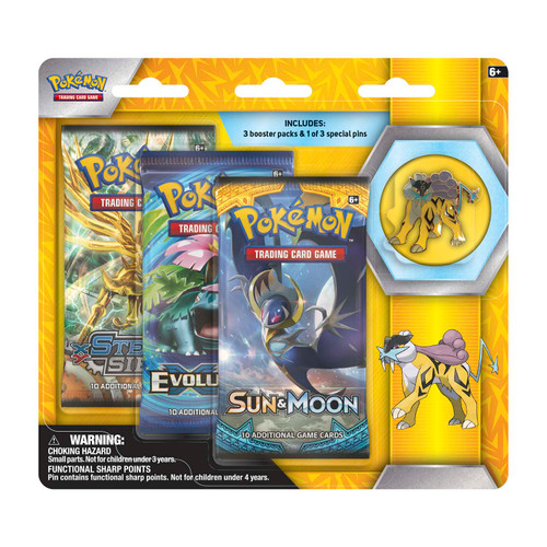 Pokémon TCG: Collector's Pin 3-Pack Raikou