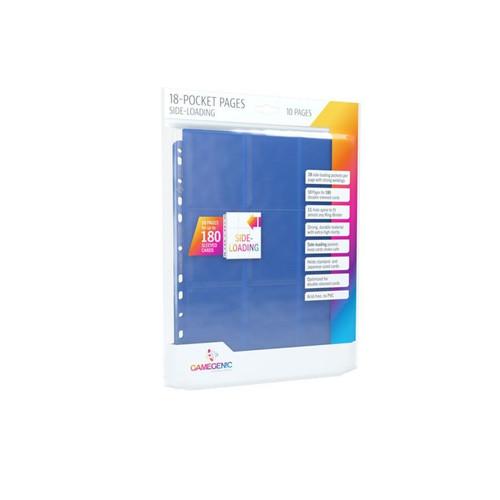 GameGenic Card Storage 18-Pocket Side Loading Pages - Blue (10) New