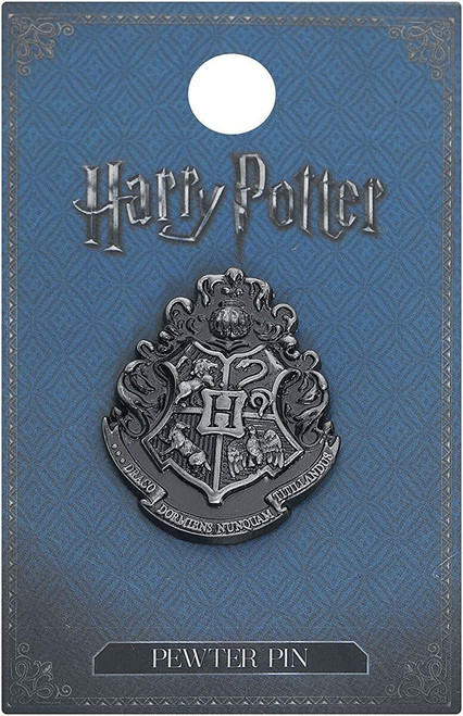 Harry Potter Hogwarts School Crest Pewter Lapel Pin (Silver)