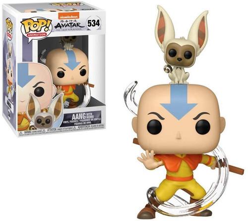 Funko Avatar: The Last Airbender - Aang with Momo Pop! Vinyl Figure (Pop Box Protector Case)