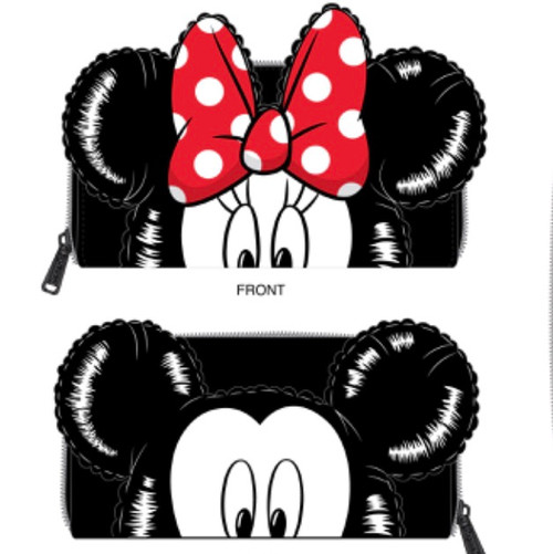 LF DISNEY MICKEY MINNIE BALLOONS COSPLAY ZIPAROUND WALLET