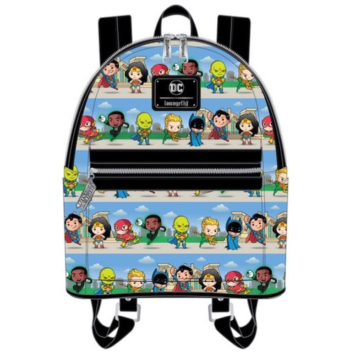 LF DC SUPERHEROES CHIBI LINEUP MINI BACKPACK