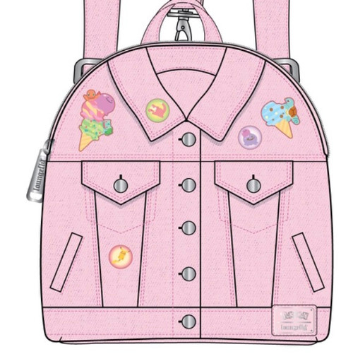 LF POKEMON ICE CREAM DENIM JACKET CONVERTIBLE MINI BACKPACK