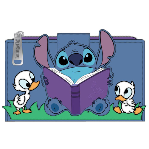 LF LILO AND STITCH STORY TIME DUCKIES FLAP WALLET