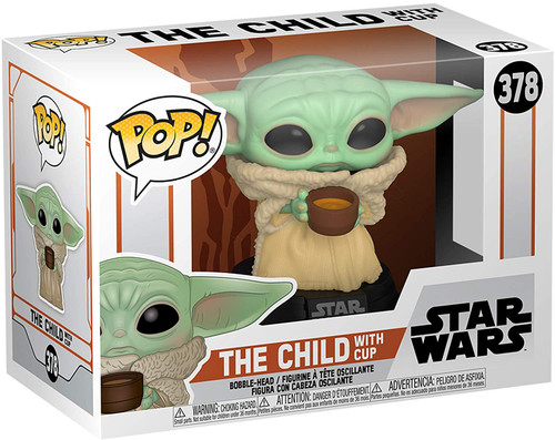 Funko Pop! Star Wars: The Mandalorian - The Child with Cup Vinyl Bobblehead #378 Comes with pop protector (Child378)
