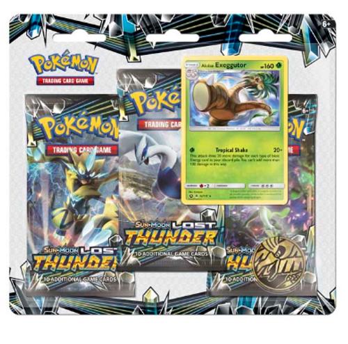 Pokémon TCG: Sun & Moon-Lost Thunder 3 Booster Packs, Coin & Alolan Exeggutor Promo Card
