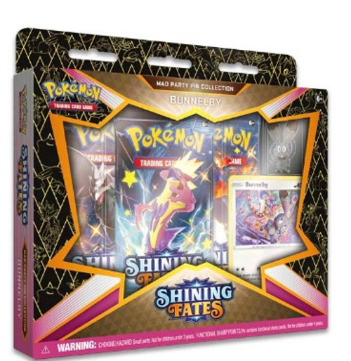 Bunnelby Pokémon TCG: Shining Fates Mad Party Pin Collection
