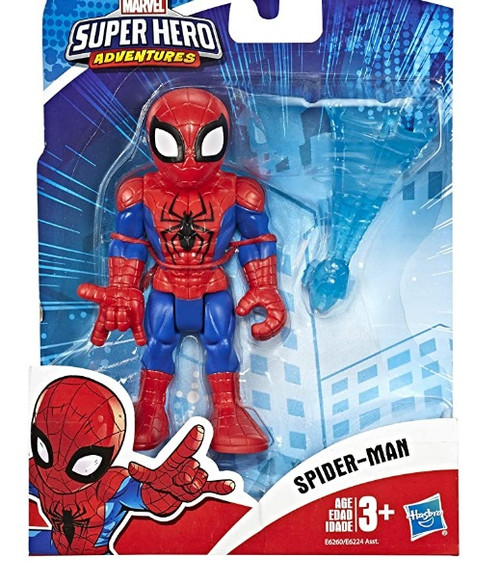 """Super Hero Adventures Playskool Heroes Marvel Collectible 5"""" Spider-Man Action Figure with Web Accessory"""