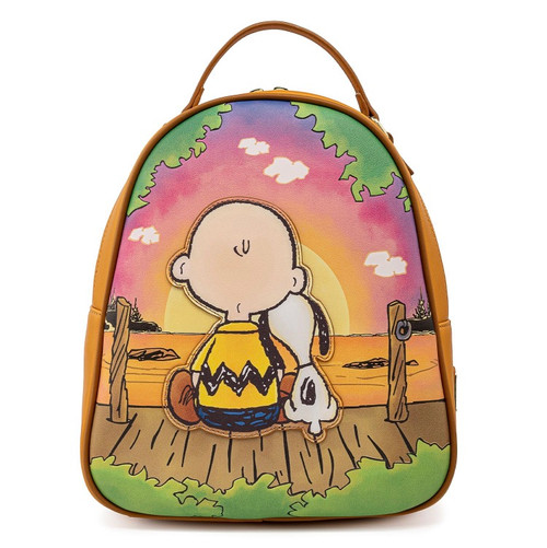 LOUNGEFLY PEANUTS CHARLIE BROWN SNOOPY MINI BACKPACK