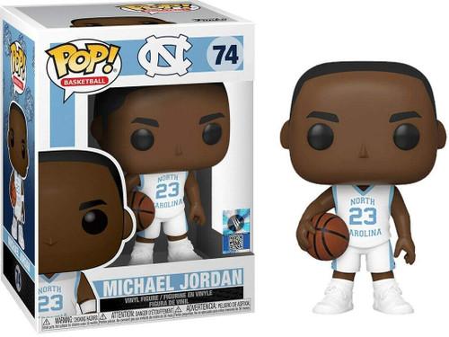 Michael Jordan North Carolina Tar Heels White (Away) Jersey #74 Pop Sports