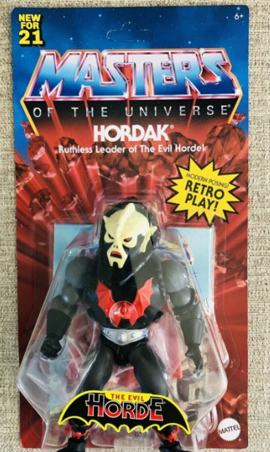 """Masters of the Universe Origins Hordak MOTU New For 21 Unpunched 6"""" Figure"""