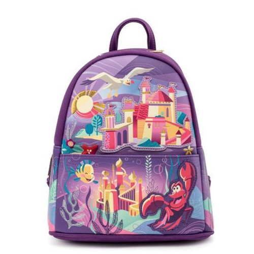 LOUNGEFLY DISNEY ARIEL CASTLE COLLECTION MINI BACKPACK